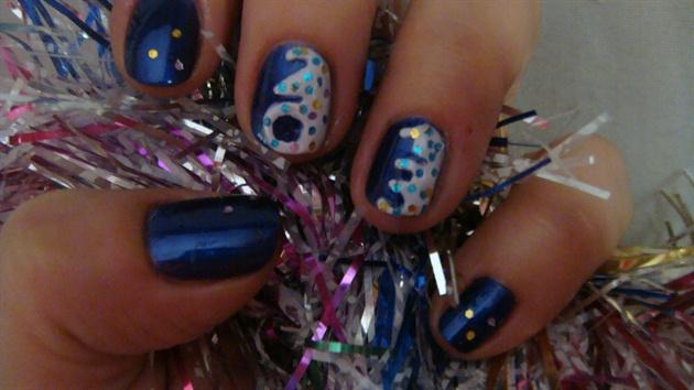 New years nail art design