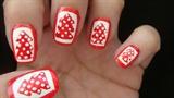 Christmas trees nail art design