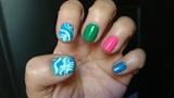 Abstract nail art design