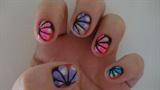 daisy colorful nail art design