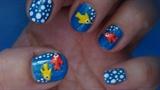 Fihes nail art design
