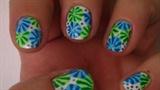 Blue & green flowers