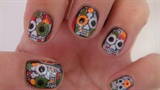 Skull Halloween nail, art design