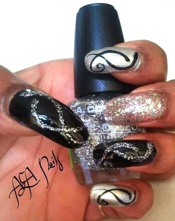 Black and silver design
