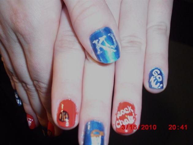 March madness basketball nails ku nail art gallery march madness basketball nails ku prinsesfo Choice Image