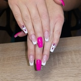 Mixed French Nails