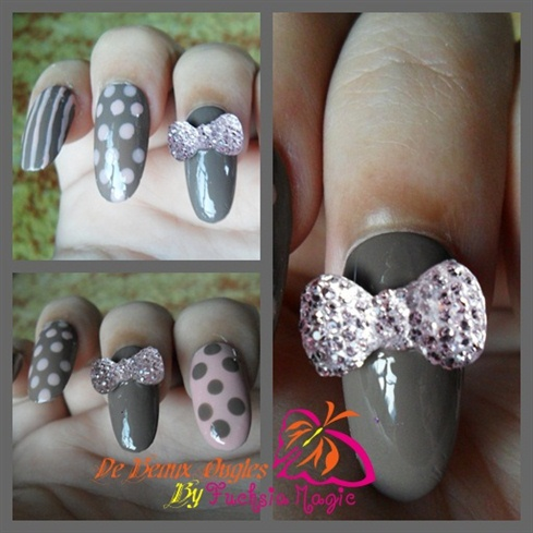 My Bling Bling Bow & Polka Dots Manicure