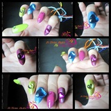 Colorful Kawaii Nails