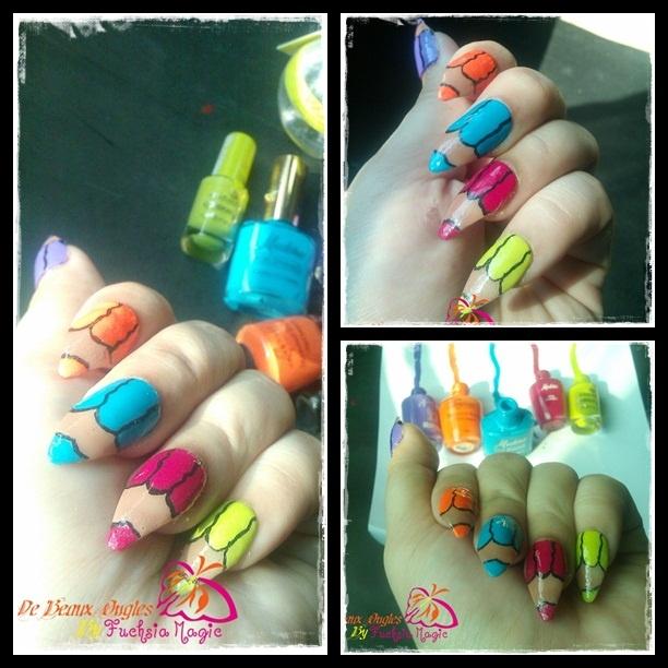 Color Pencil Nails - Nail Art Gallery
