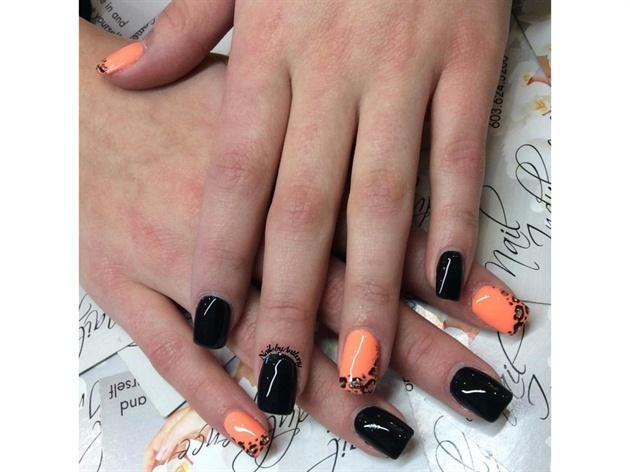 Black & Orange Animal Print