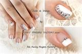 Gelish Wedding nails with Swarovski crys