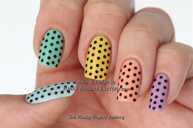Pastel Spotty nails