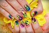 Gelish Tropical nails