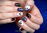 Gelish Harry Potter nails with Swarovski