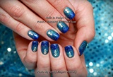 Gelish Cinderella Nails with Swarovski