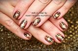 Gelish Autumn Leopard Print nails
