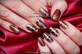 Gelish Autumn Owl nails