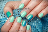 Gelish Mint and Blue Ombre nails