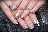 Gelish Silver Glitter Ombre nails