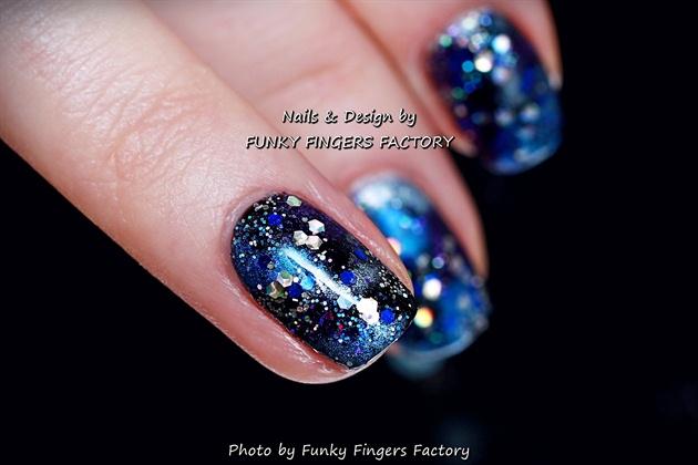 Gelish Galaxy Nails