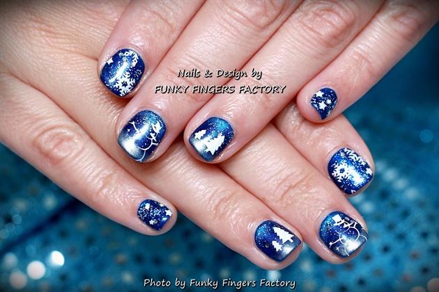 Gelish Winter Snowman nails