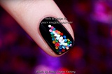 Gelish Black Glitter Christmas Tree nail