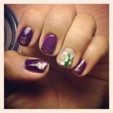 Purple Flower w/ Glitter