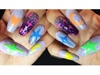Rainbow Bright/Care Bear nail art