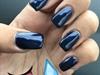 Navy Blue Acrylic Nails