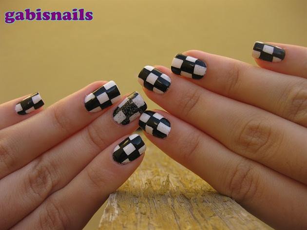Chess Nails/Unhas de Xadrez