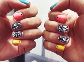 nail art: Tribal ♥