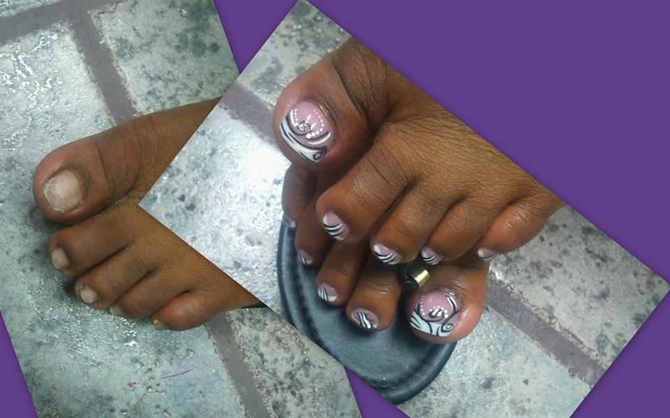 Acrylic toes - Nail Art Gallery