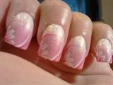 blended pink & white pigment
