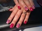 Gradient pink zebra print :)