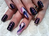 navy pink & white marble :)