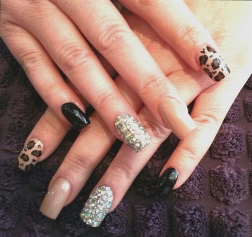 nude leopard & lots of bling :)