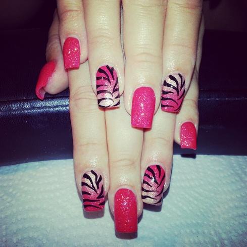 coral gold zebra :)