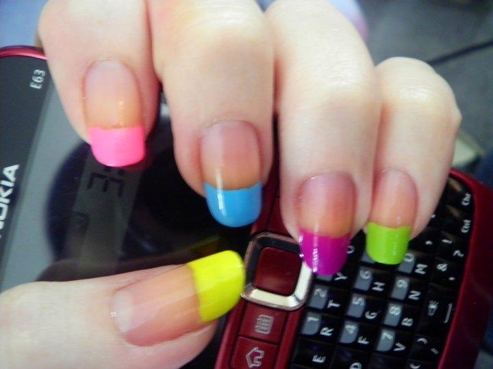Fine Colored Artificial Nail Tips Collection Nail Art Design Ideas