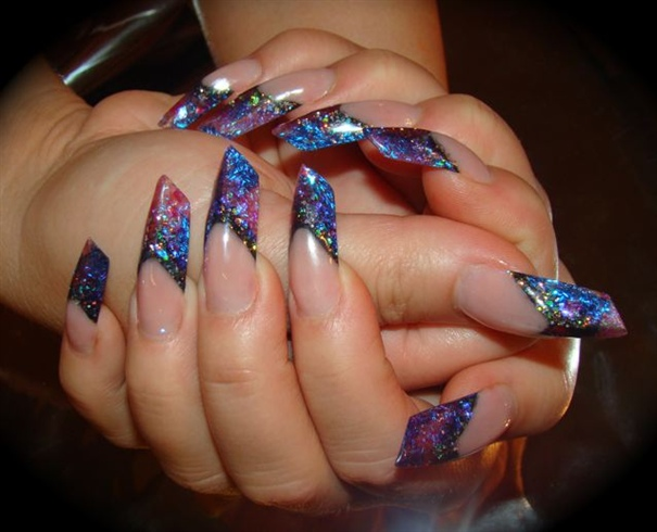 Edge Acrylic Nails Nail Art Gallery