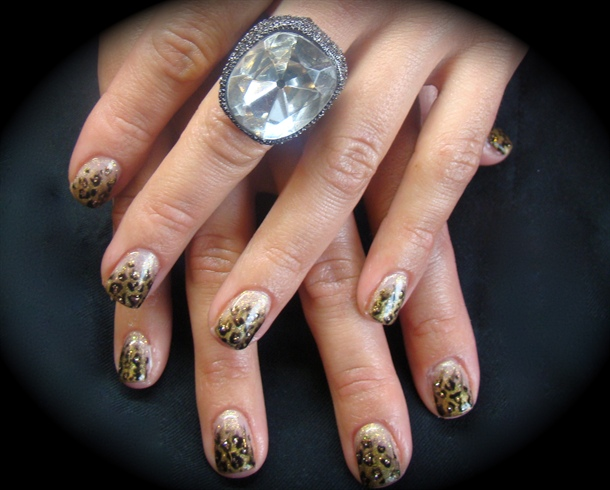 Cheetah Gel Manicure