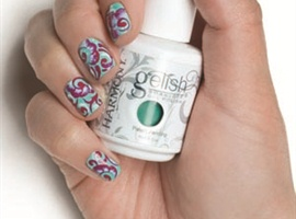 Gelish Floral Nail Art Step-By-Step