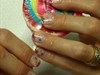 Lollipop nails, with paw prints