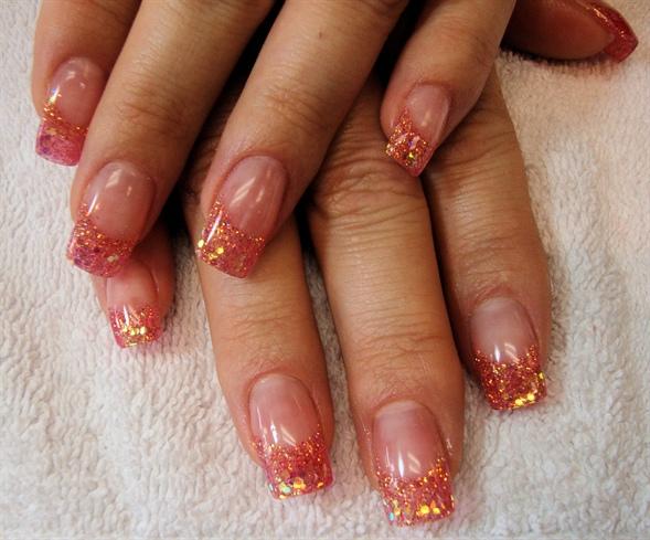 Coral Glitter Gels