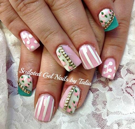 Feminine chic nail art gallery - Nail art chic ...