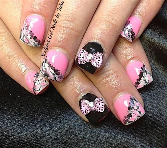 Pretty Pink Bows! - Nail Art Gallery