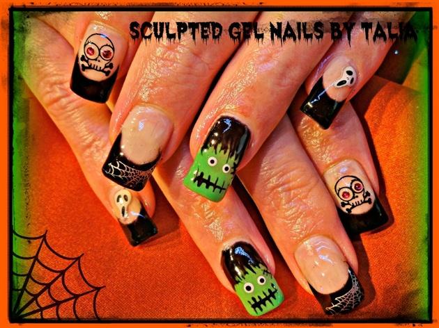 Black Halloween Nails!