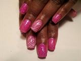 Pink glitter zebra