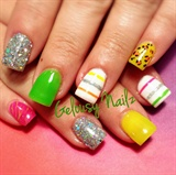 Neon Spring Nails