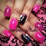 Pink Bling Zebra Design