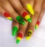 Reggae Bob Marley Nails
